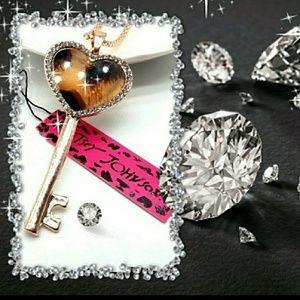 Betsey Johnson Key Necklace
